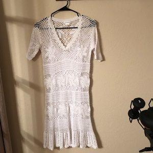 Club Monaco Crochet Dress